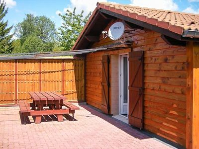 Photo for Wooden chalet with terrace to 18 KM of ski slopes, 4 people