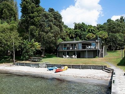Photo for Onepoto Bay Lodge - Lake Rotoiti Holiday Home