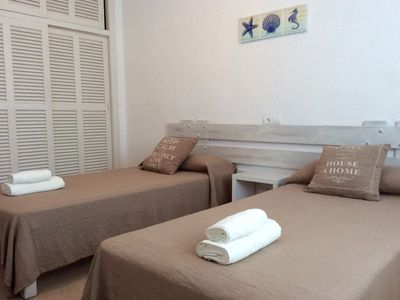 Photo for Spacious apartment in Es Pujols with pool
