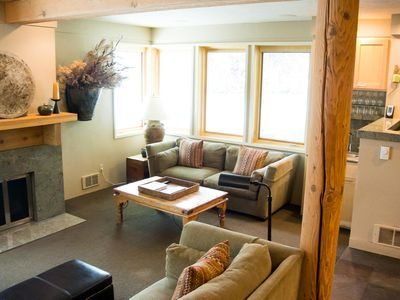 Photo for Elegant condo on Warm Springs Creek with hot tub access -- walk to chairlift