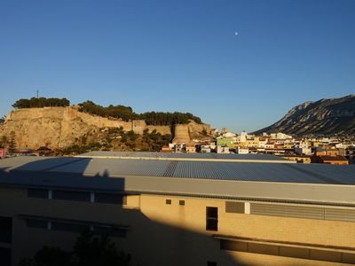 Photo for Penthouse with great views of Denia castle and Montgo