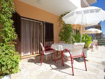 Photo for Studio flat with terrace and sea view Stari Grad, Hvar (AS-15241-c)