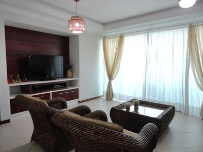 Photo for Luxury apartment, 200m from the beach, with pool