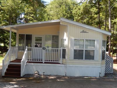 Photo for Clean, Family Friendly Resort Cottage- on  golf course and close to beach