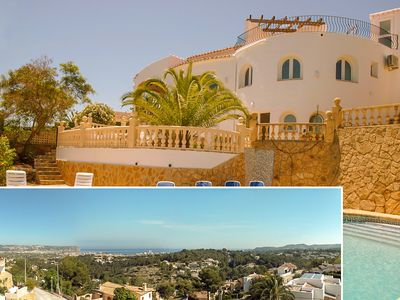 Photo for Luxury villa with spectacular seaviews  sleeps 8-9