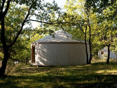 Photo for Comfortable wooden yurt 1-heated swimming pool