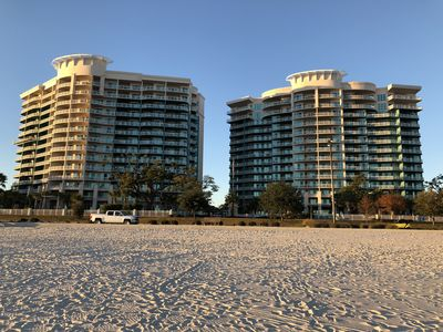 Legacy Towers - view from the sugar white beach.