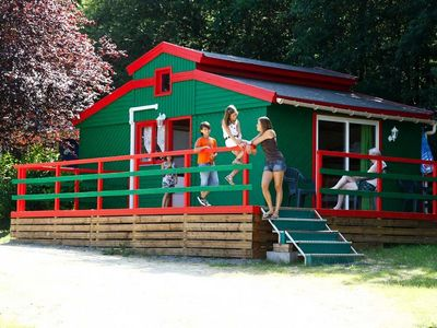 Photo for Camping Saint Pierre de Rousieux *** - Green Chalet 2 rooms 5/6 people Mezzanine
