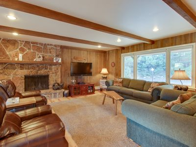 Photo for NEW LISTING! Comfortable cottage with golf course, mountain views