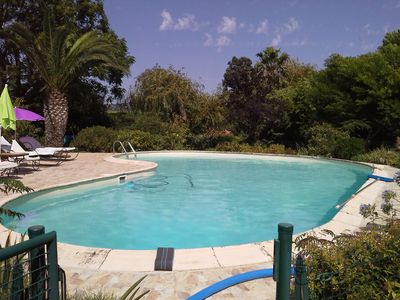 Photo for Provencal stone house with SWIMMING POOL in HYÈRES