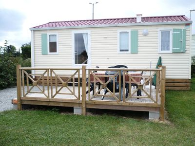 Photo for Camping de la Motte **** - Mobil Home Ibiza 4 Seasons 4 Adults and 1 Child