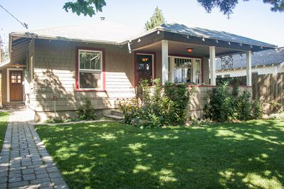 The Basalt Bungalow just steps to downtown Bend and many shops