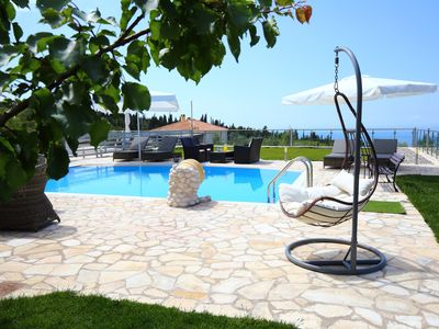 Photo for Luxury stone villa  Emily with private pool overlooking the Ionian sea