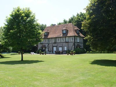 Photo for Le Clos Normand beautiful manor house with heated pool for 14 people