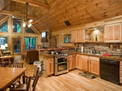 Photo for Mountain Luxury Escape is an enchanting log cabin positioned within Whitepath Golf Course community.