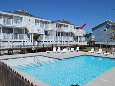 Photo for Private ocean front balcony with terrific beach & ocean views.