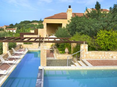 Photo for Ariadne - Luxury Villa - 2 Private Pools - Maid Service - Sleeps 10