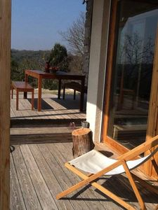 Photo for Bioclimatic house, exceptional view and quiet, 1.3 km of the river