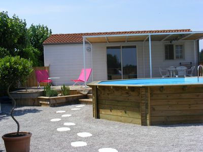 Photo for LOCATION CHALET - CHARMING BUNGALOW A RAISSAC AUDE WITH POOL