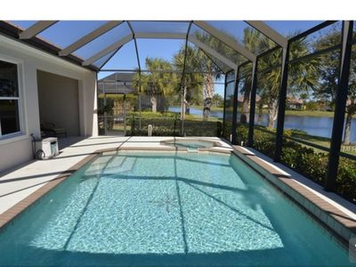 Photo for Waterfront View with Private Pool in Gated Golf Community
