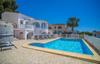 Photo for INFINITY, Large villa for 16 pax with sea views, private pool and free wifi