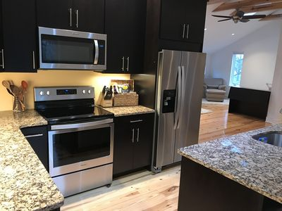 Full size appliances and fully appointed Kitchen