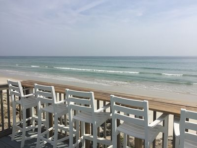 Photo for Direct Oceanfront Home W/ 3 Bdrm 3 bath inc 2 Master Suites No Drive Beach
