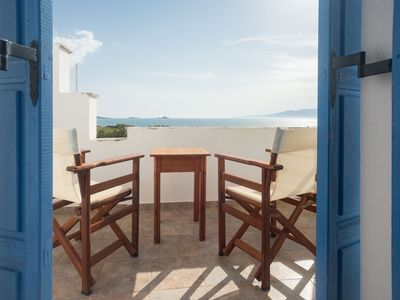 Photo for Plaka Naxos, Depis studios beachfront for 4