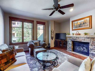 Photo for Condo with Outdoor Pool & Hot Tubs, Walk to Town