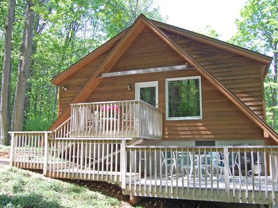 Photo for Clean, Comfortable 2b/1b Apartment Nestled in the Woods near Glen Arbor