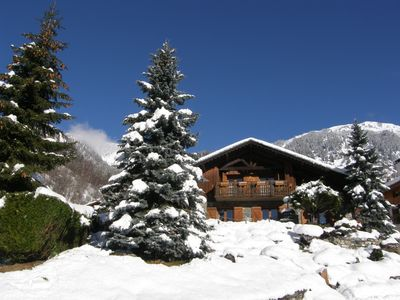 Photo for Apart. 6 people in Savoyard chalet, - LA PLAGNE PARADISKI and PNV