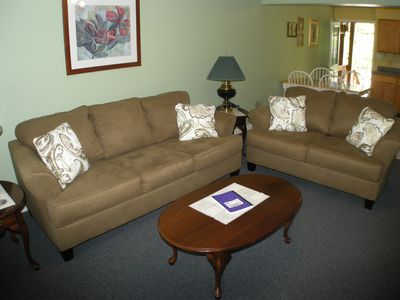 Photo for Clean, comfortable, updated 2 bedroom 1 bath condo overlooking pool.