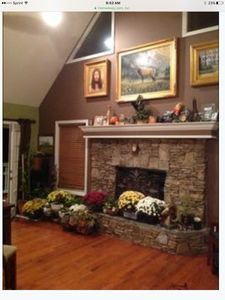 Photo for Mountain chalet nestled in forest overlooking Brasstown Lake