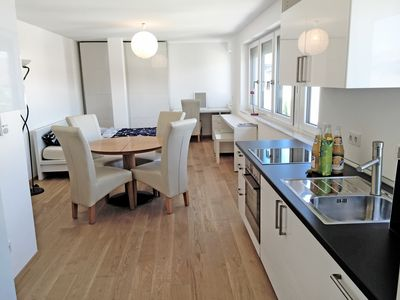 Photo for New high quality apartment centrally Friedrichshafen on Lake Constance with kitchen