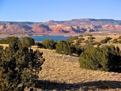 Abiquiu Lake from the Casita, late afternoon