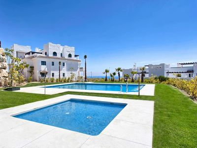 Photo for New apartment with sea view and private garden at a short distance from the beach
