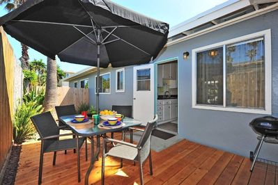 With your private outdoor patio your biggest decision will be whether to eat in