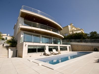 Photo for Luxury villa with fantastic sea views, outdoor pool, indoor pool and Jacuzzi