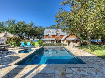 Photo for COTTAGE @ PARADISE COVE, Lake Travis Waterfront Home~Pool, Spa, Outdoor Kitchen