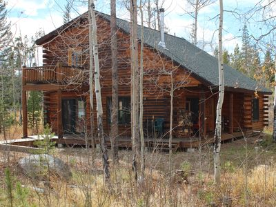 Photo for Log Cabin-  Hang out with Moose!   Grand Lake/Columbine Lake - Private location
