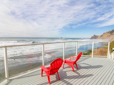 Photo for Roads End Oceanfront with Contemporary Styling Features Ocean-View Bedrooms