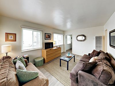 Photo for Oceanview Gem! Walk 200' to Beach – Near Dining & Shopping, Bikes Provided