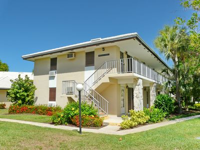 Photo for Peaceful condo w/ heated pool just a short walk from the beach