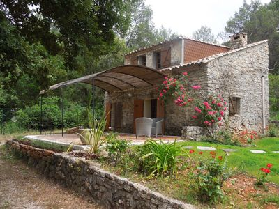 Photo for shed on 4000m2 of land, nice view over the vineyards, swimming pool, sleeps 3