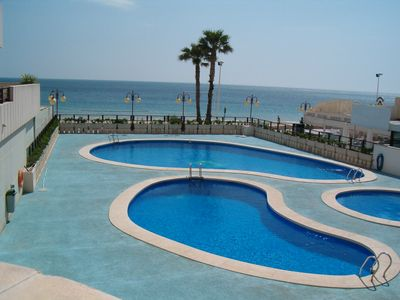 Photo for Apartment all comfort, sea views, swimming pools, air conditioning, garage