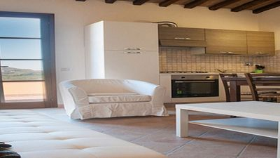 Photo for Rosa apartment: large terrace, panoramic view, air conditioning