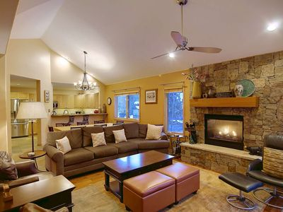 Photo for Off-Season Deals! Large Town Home w/Central Air, 2 Living Areas, Hot Tub, Deck, Foosball