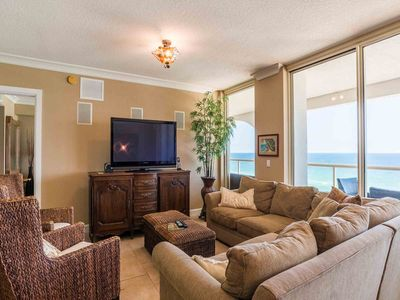 Photo for Beachfront Condo~ Grand Balcony Overlooking the Gulf ~ Enjoy the Spa, Fitness Center and Pools! ~ Free WIFI