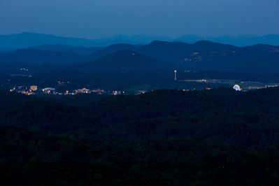 Miles in the distance you can see Pigeon Forge all lit up.