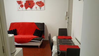 Photo for 2 Rooms MENTON 2 STEPS FROM SEA, BEACH, CITY, SHOPS, STATIONS, CASINO, GARDENS BIOVES